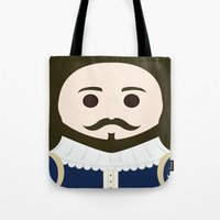 shakespeare Tote Bags featuring William Shakespeare by heartfeltdesigns by Telahmarie