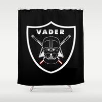 sport Shower Curtains featuring Vader sport logo by Buby87