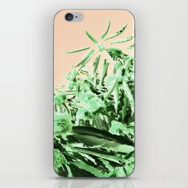 Green chestnut tree impressions iPhone Skin