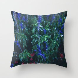 Night Time Bloomin Throw Pillow