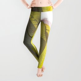 Waved yellow surface Leggings