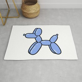 Blue Balloon Dog Rug