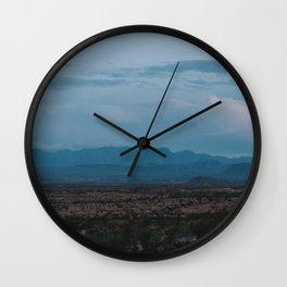 Texas Mountain Range at Dusk Wall Clock