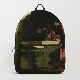 Hans Holbein the Younger - The Merchant Georg Gisze Backpack