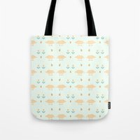 pigs Tote Bags featuring Funny pigs by Lera Efremova