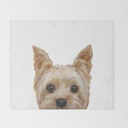 Yorkshire Terrier original painting print Throw Blanket