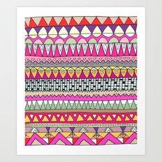 Tribal Lines Art Print