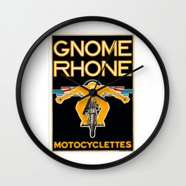 1935 Gnome Rhone Motocyclettes Poster Wall Clock