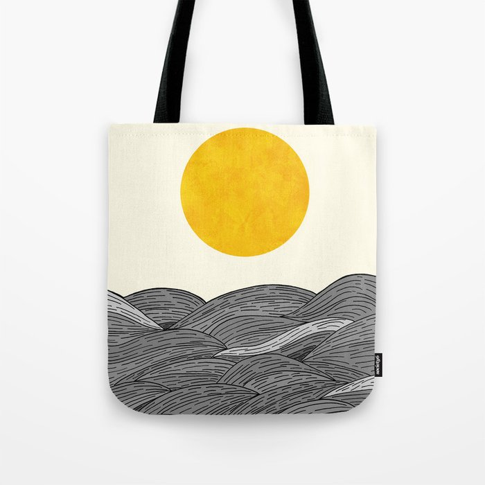 The Grey Waves Tote Bag