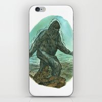 sasquatch iPhone & iPod Skins featuring Sasquatch by Samantha Bryanne