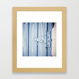 blue hinge Framed Art Print