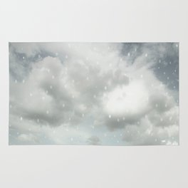 Snowing Winter Scene Illustration #decor #society6 Rug