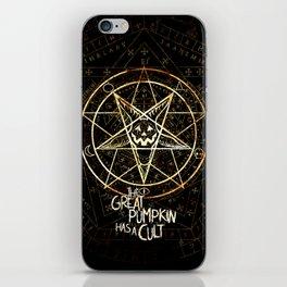 Cult of the Great Pumpkin: Pentagram iPhone Skin