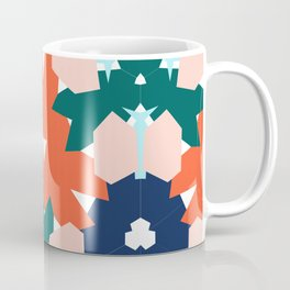 Tropical flowers kaleidoscope Coffee Mug
