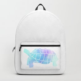 Sulcata Tortoise Silhouette (watercolor) Backpack