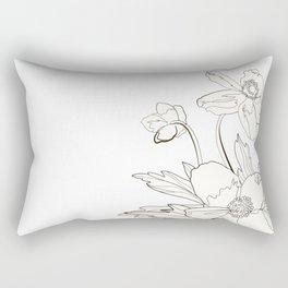 Bunch of spring anemones Rectangular Pillow