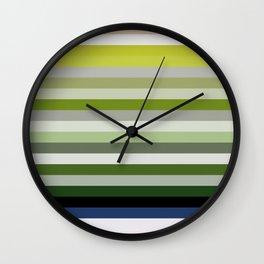 Les lignes de couleurs 02 Wall Clock