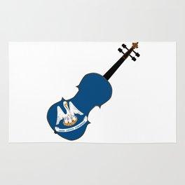 Louisiana State Fiddle Rug