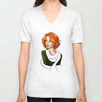 clover V-neck T-shirts featuring Clover by Whisperwings