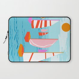 Quepasa - memphis throwback retro minimal modern neon boating yacht club sailing summer sport Laptop Sleeve