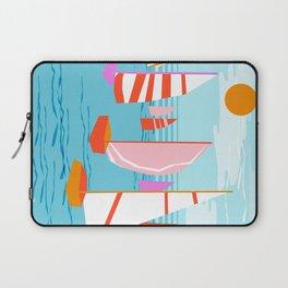 Quepasa - memphis throwback retro minimal modern neon boating yacht club sailing summer sport Laptop Sleeve