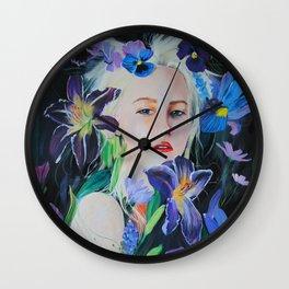 She Flourished Wall Clock