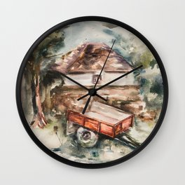 Old trailer Wall Clock