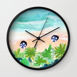 Seychelles Tropical Island Beach Wall Clock