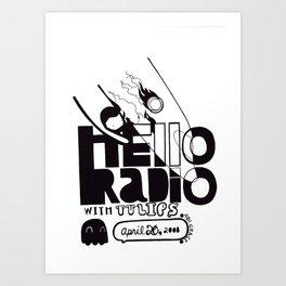 Hello Radio Art Print