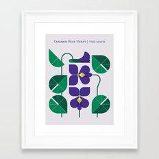 Blue Violet Framed Art Print