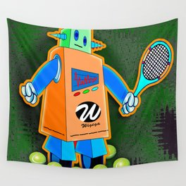 Tennis Robot with Racquet No. 2 Wall Tapestry