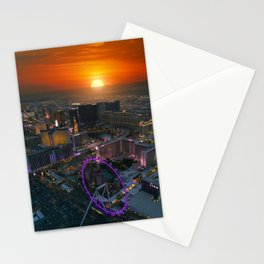 Sunset in Vegas Stationery Cards