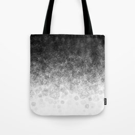 Disappearing Fog - Black and White Gradient Tote Bag