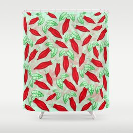 Red Hot Chilli Pepper Decorative Food Art Shower Curtain