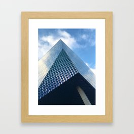 Pyramid, clouds Framed Art Print