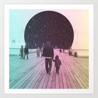 walk the moon Art Prints featuring Moon Walk by Cale potts Art