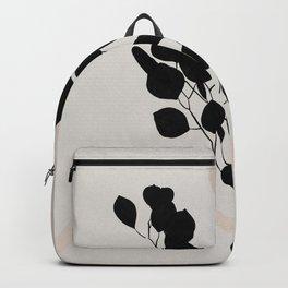 Abstract Eucalyptus Leaf Print Backpack