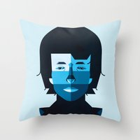 bob dylan Throw Pillows featuring Bob Dylan by rubenmontero