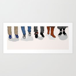The Breakfast Club Shoes Art Print