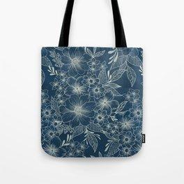 indigo bloom // repeat pattern Tote Bag