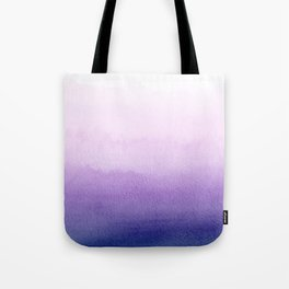Purple Watercolor Design Tote Bag
