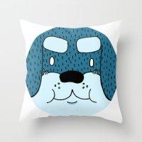 rottweiler Throw Pillows featuring ROTTWEILER by Flash Harrold