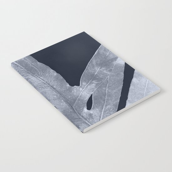Green Fern Silver Black Notebook