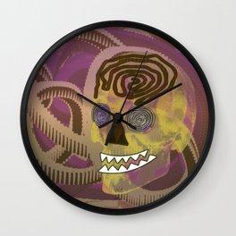 Skull in a Tubular Landscape Wall Clock
