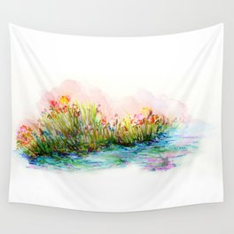 Sunrise Pond Wall Tapestry