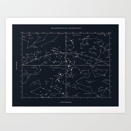 star chart Art Print
