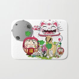 Maneki-neko in the magical world Bath Mat