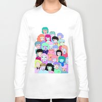 it crowd Long Sleeve T-shirts featuring Crowd #2  by Milly Scarlett