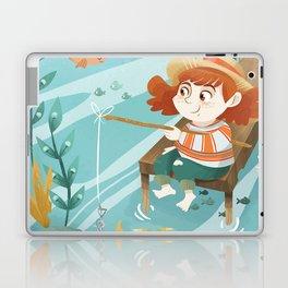 Giadina goes to fishing Laptop & iPad Skin