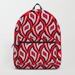 Distorted rhombuses in a red cover. Backpack